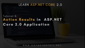asp net core tutorial action results