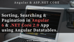 Search, sort and pagination in Angular 6 and ASP.NET Core
