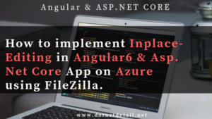 Inline editing in Angular 6 and Asp Net Core Application using ag-grid