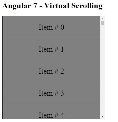 Angular 7 Virtual Scrolling and Drag and Drop features (Angular