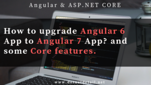 How to upgrade Angular 6 App to Angular 7 in Visual Studio Code