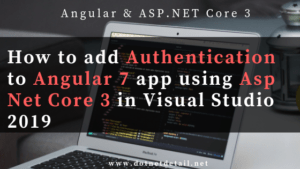 Authentication to Angular 7 app using asp net core 3