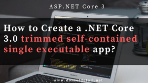 .net core 3.0 trimmed self-contained single executable app